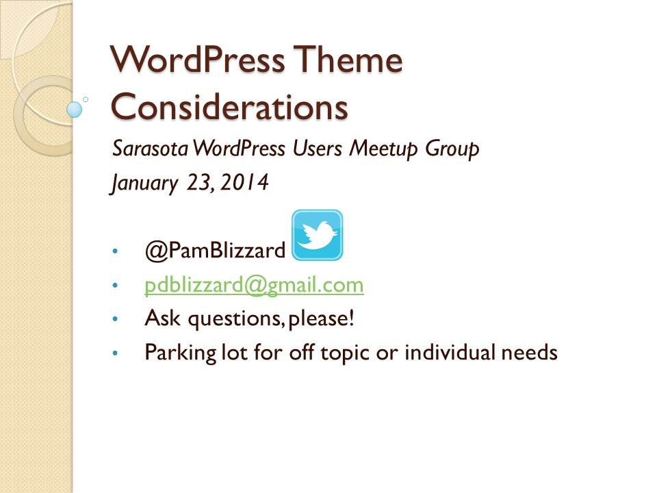 WordPress Theme Considerations2